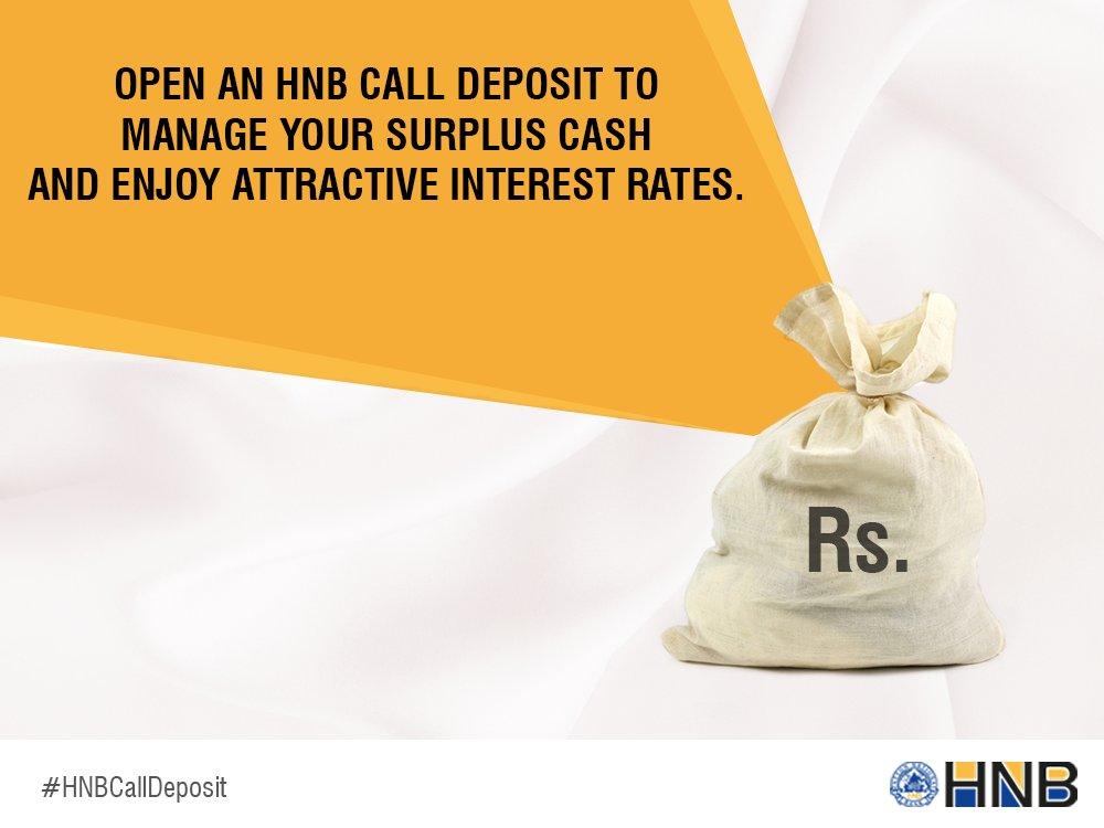 Hatton National Bank Plc Call Deposits Fixed Deposit