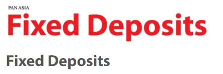 Pan Asia Banking Corporation Plc Fixed Deposits Fixed Deposit