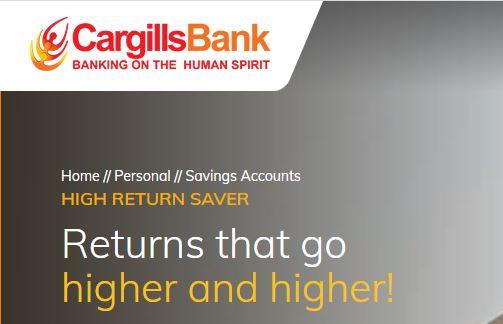 Cargills Bank Ltd High Return Saver Fixed Deposit